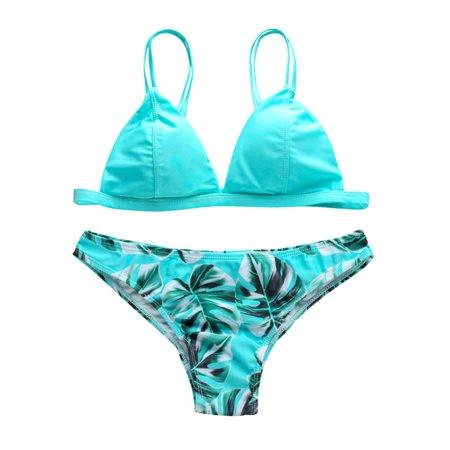 e128fbafaa Women Sexy Brazilian Bikini Set Swimwear Padded Bra Bandage Beach Swimsuit  Bathing Suit Multi Color