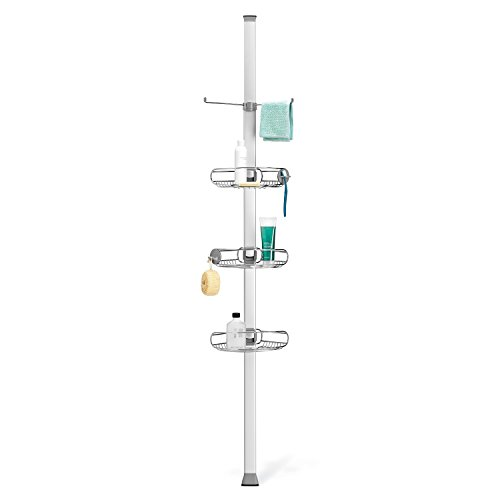 simplehuman Tension Shower Caddy, Adjustable Tension Pole...