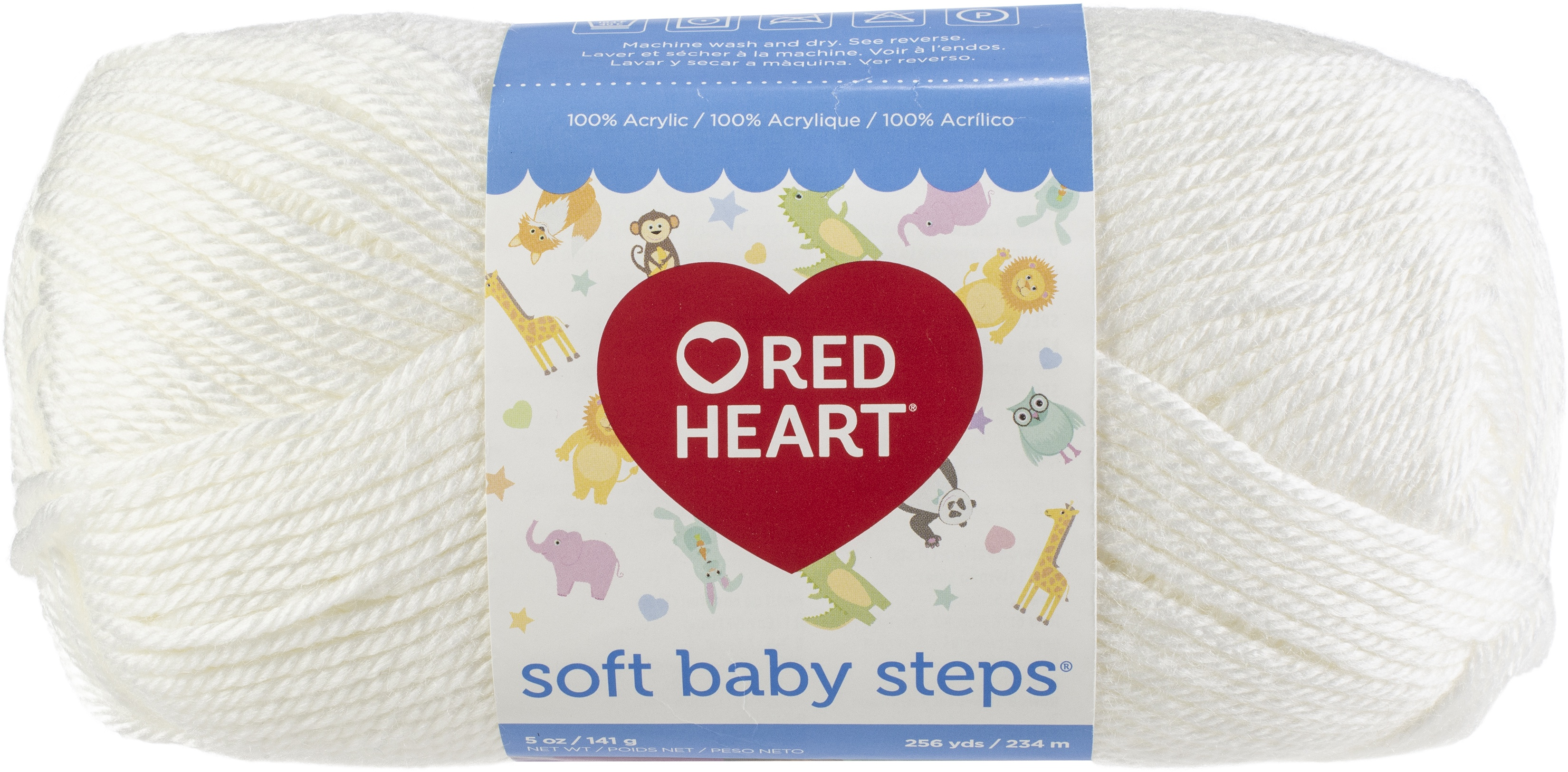 Red Heart E746.9600 Soft Baby Steps Yarn White
