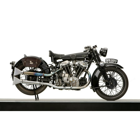 1931 Brough Superior SS100 JAP engine motorcycle Stretched Canvas - Panoramic Images (12 x 20)