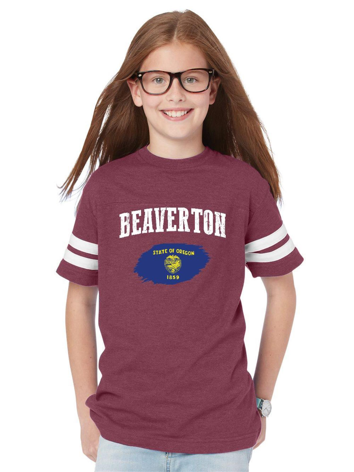 beaverton oregon youth football fine jersey tee - walmart