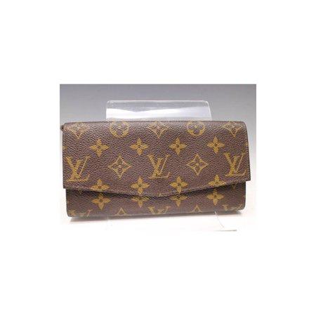 Canvas Flap Wallet ((Rare) Monogram Flap Wallet 229426 Brown Coated Canvas)