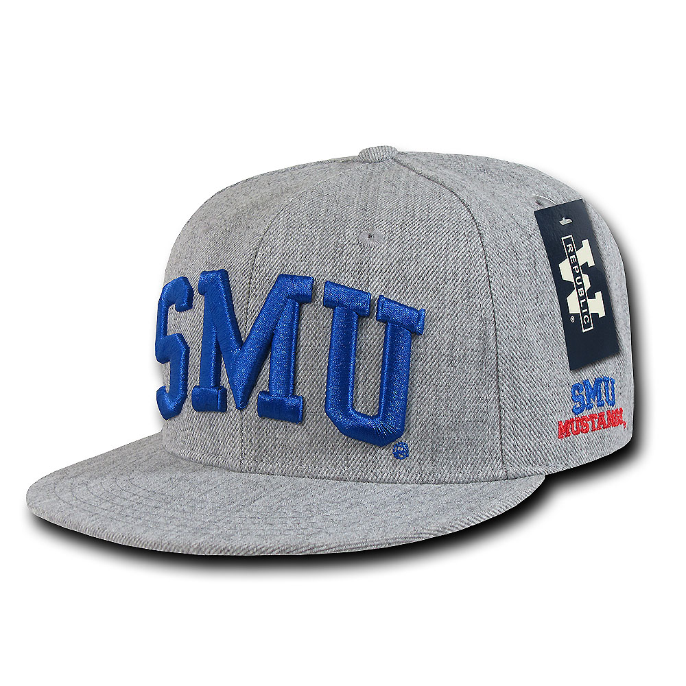 Southern Methodist Mustangs Game Day Fitted Hat (Gray)