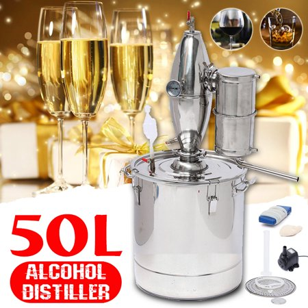 20L/30L/50L 5/8/13 Gallon Wine Alcohol Distiller Beer Still Stainless Copper Moonshine Home Water Equipment Machine Maker Brew Kit Distilling Boiler](Mr Beer Bottles)