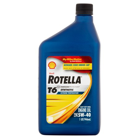 shell rotella 5w 40 synthetic motor oil 1 qt case of 6. Black Bedroom Furniture Sets. Home Design Ideas