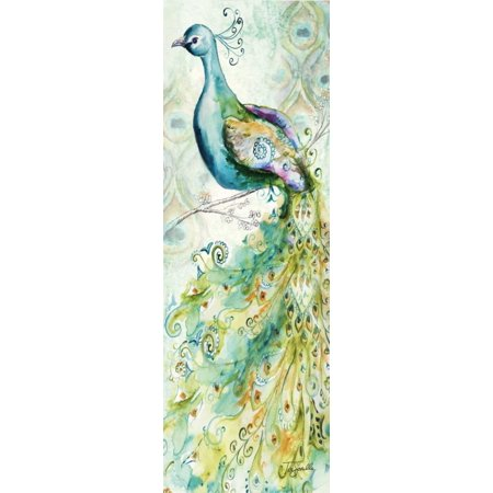 Panel Stretched Canvas (Bohemian Peacocks Panel II Stretched Canvas - Tre Sorelle Studios (12 x 36))