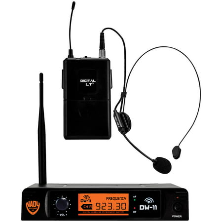 Nady DW-11-HM-ANY Single-Channel Digital Wireless Microphone System (Digital LT HM-3 Headset) & UPG AA 50 Pack (Nady Wireless Mic)