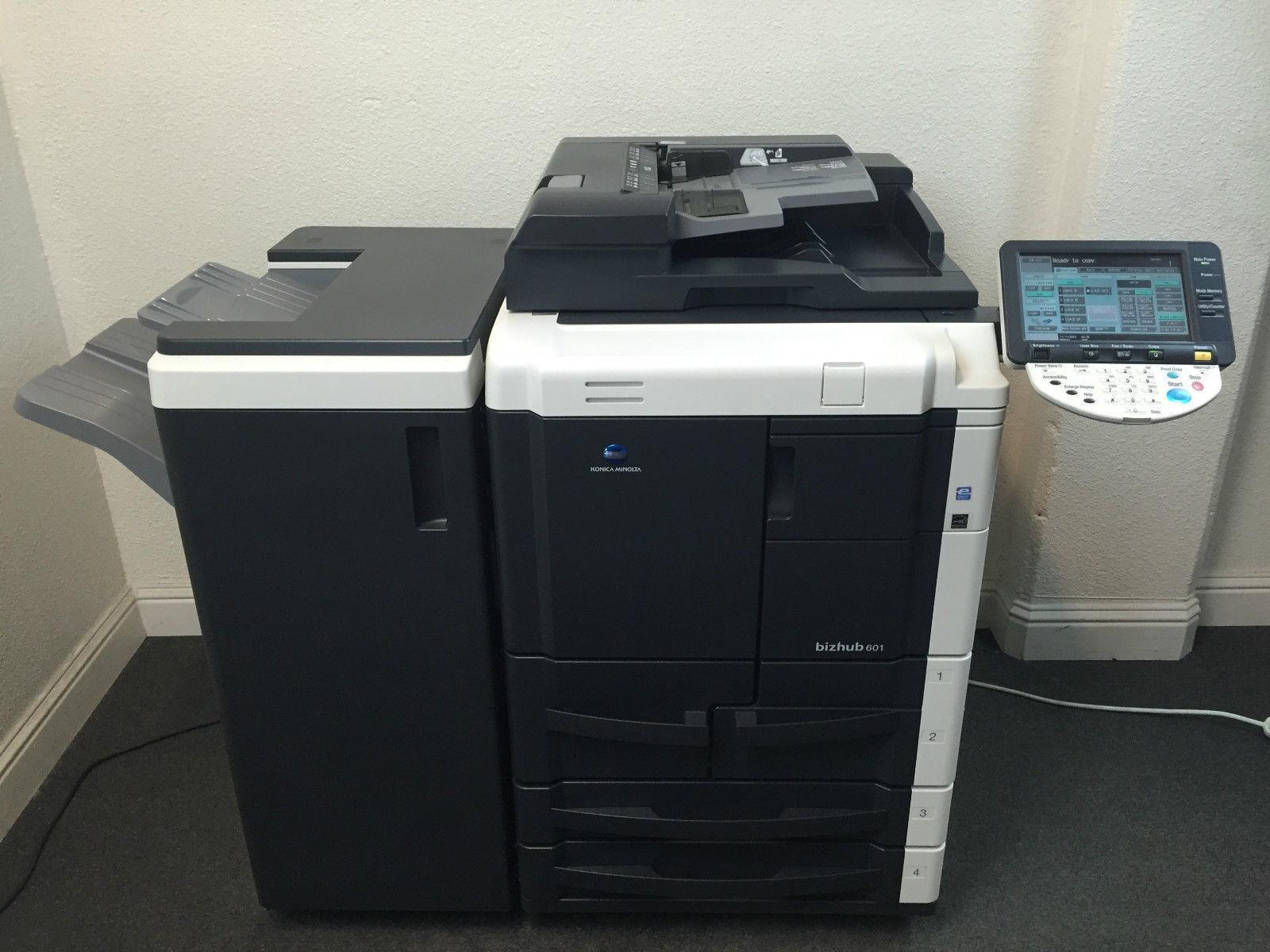 Konica Minolta Bizhub 601 Copier Printer Scanner & Staple LOW 286k total pages by Konica