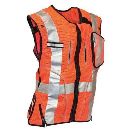 Falltech Construction Safety Vest, Orange G5055LX - Construction Vests