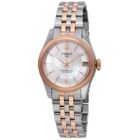 Markers Automatic Chronometer - Tissot Ballade Automatic Chronometer White Mother of Pearl Dial Ladies Watch T108.208.22.117.01