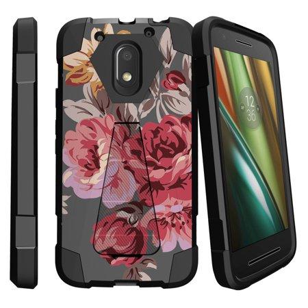 Motorola Moto E3 Case | Moto E 3rd Gen XT1700 Case  [Shock Fusion] Dual Layer Case with Built In Kickstand - Autumn