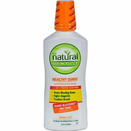 Natural Dentist Daily Healthy Gums Antigingivitis Rinse Orange Zest - 16 Fl