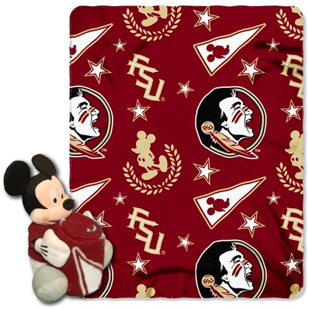 Official NCAA and Disney Cobrand Florida State Seminoles Mickey Mouse Hugger Character Shaped Pillow and 40