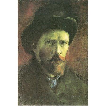 Framed Art for Your Wall Gogh, Vincent Willem van - Self -portrait with dark felt hat 10 x 13 (Vincent Van Gogh Self Portrait With Felt Hat)