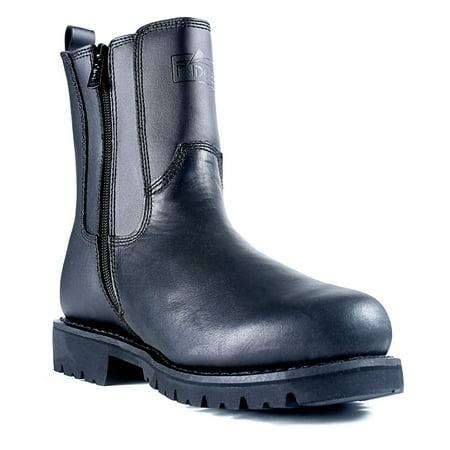 Ridge Footwear MC206 Men's All Leather Side Zip 8