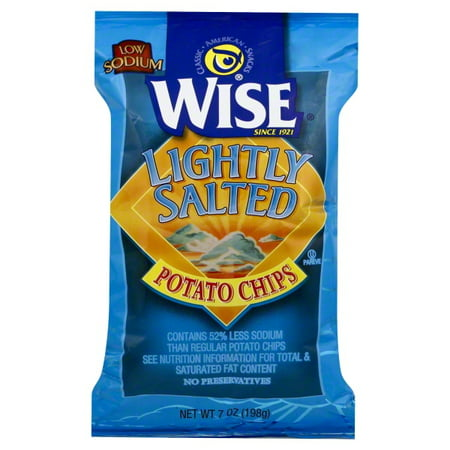 Wise Potato Chips (Wise Lightly Salted Potato Chips, 7 Oz.)