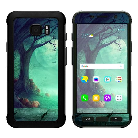 Skin Decal For Samsung Galaxy S7 Active / Halloween Tree Moon