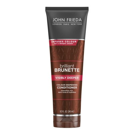 John Frieda Brilliant Brunette Visibly Deeper Colour Deepening Conditioner, 8.3 Fl Oz