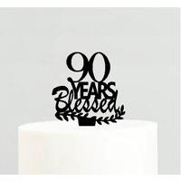 90th Birthday / Anniversary Blessed Years Cake Decoration Topper