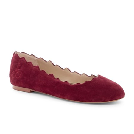 - Sam Edelman Women's Francis Scalloped Suede Flats