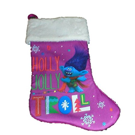 Dreamworks Holly Jolly Troll Large Holiday Christmas Hanging Stockings Poppy Branch  Branch
