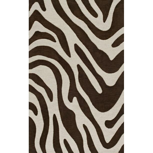 Dalyn Transitions Area Rug Tr15 Tr15 Brown Zebra Animal Print Walmart Com Walmart Com