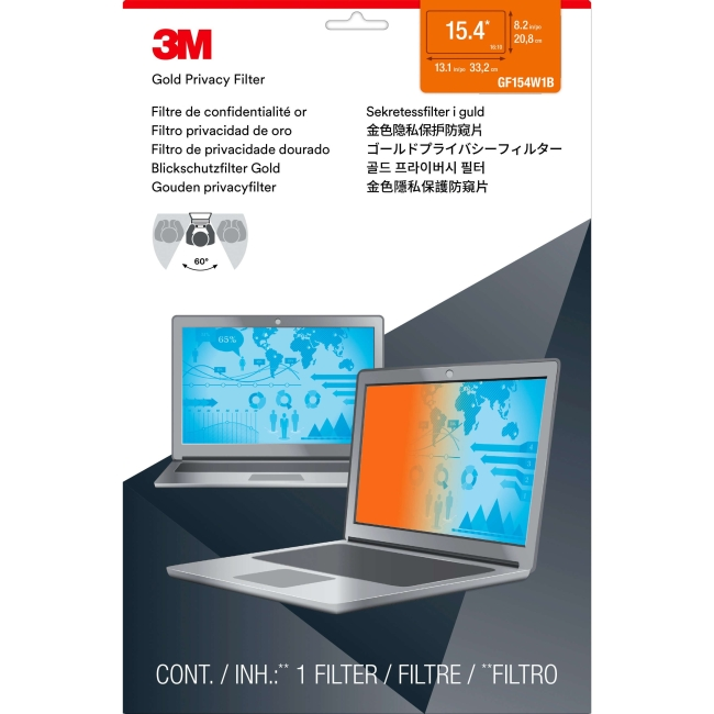 "3M™ Gold Privacy Filter for 15.4"" Widescreen Laptop (16:10) - For 15.4""LCD Notebook"