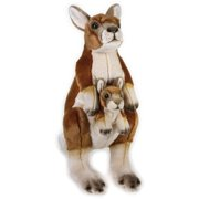 Lelly National Geographic Plush, Kangaroo with Baby by Venturelli