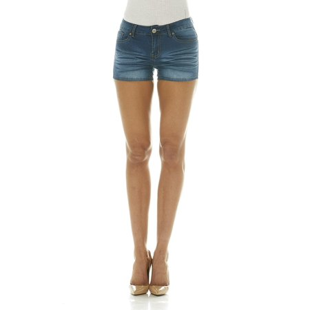 Cover Girl Jeans Women's Denim Shorts Mid Rise Blue Washes with Stretch Size 9\10 Vintage Blue (1.5
