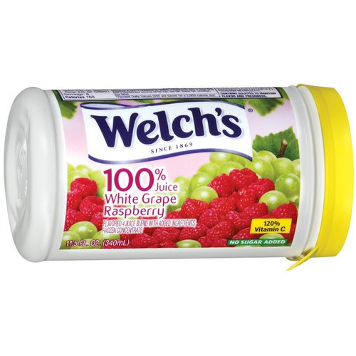 Welch's Frozen 100% White Grape Raspberry Juice Concentrate, 11.5 oz