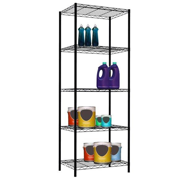 corner shelves walmart decorating bookshelves hutch lowes.htm home basics sunbeam 61  high 5 tier wire shelving storage unit  5 tier wire shelving storage unit