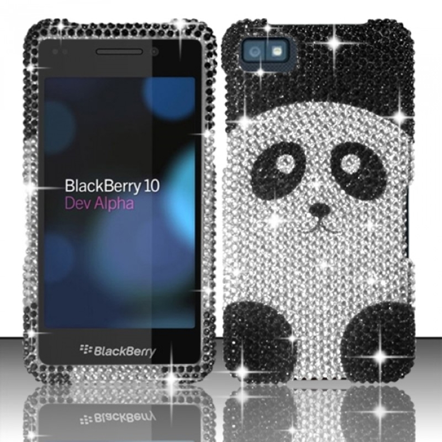 Insten Panda Bear Full Diamond Design Case Cover For Blackberry Z10