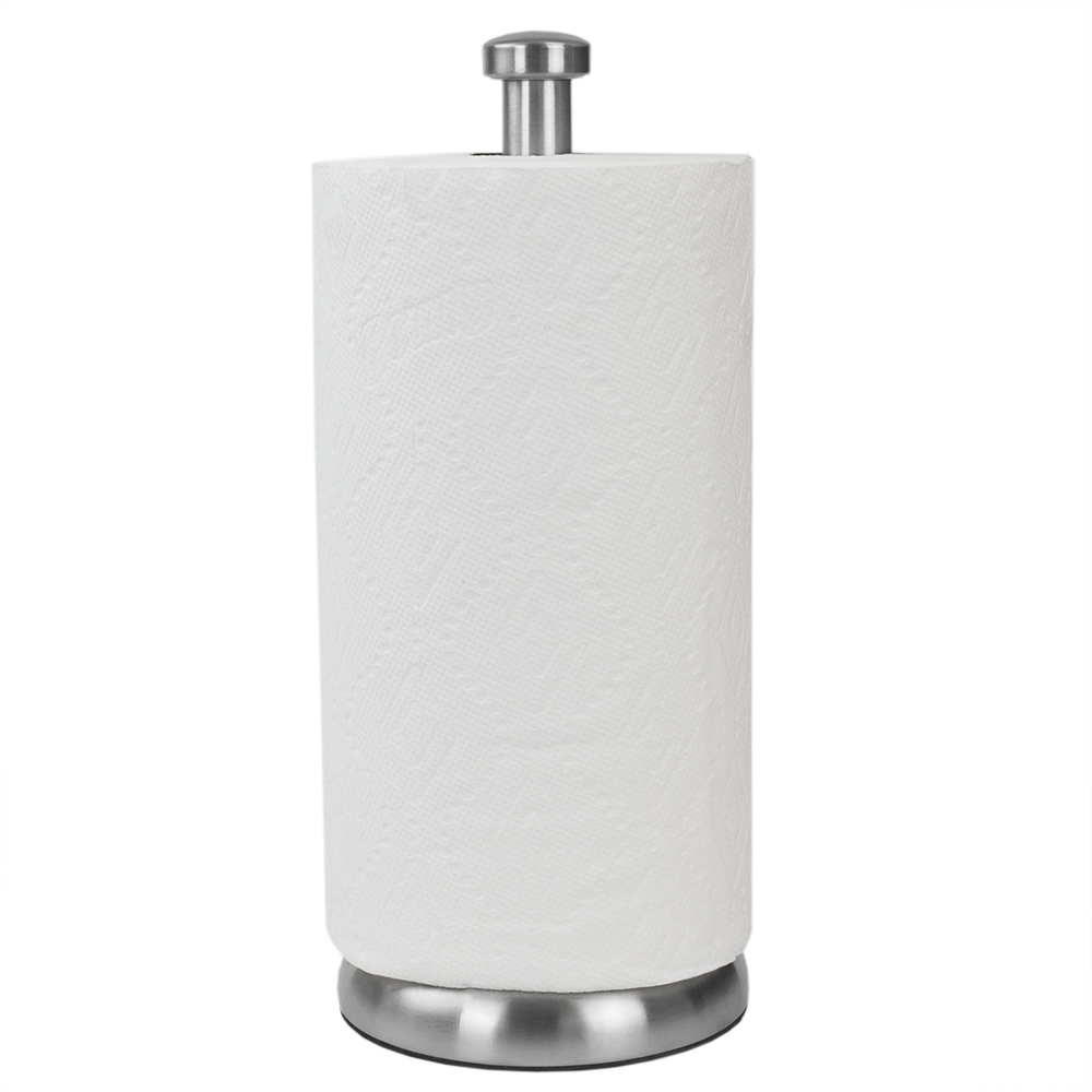 Heavy Duty Free Standing Paper Towel Holder Satin Nickel Walmart Com Walmart Com