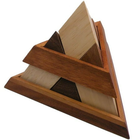 Luxor Egyptian Pyramid - Wooden Puzzle Brain (Pyramid Brain Teaser)