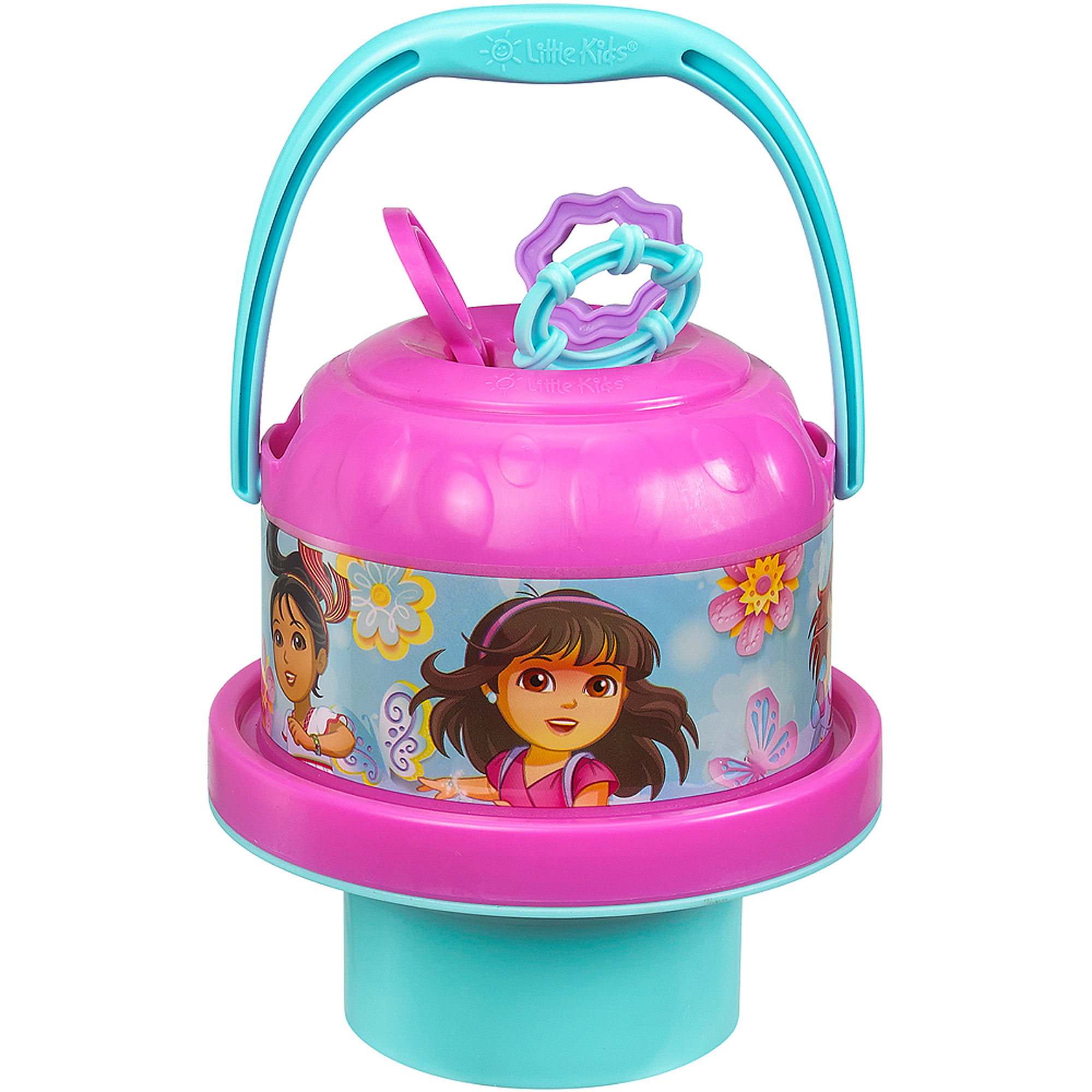 Little Kids No-Spill Bubble Bucket, Dora and Friends