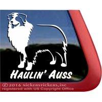 Haulin' Auss | Standing Australian Shepherd Vinyl Adhesive Dog Window Decal