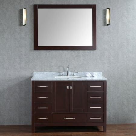 Ari Kitchen and Bath Bella SP 48 in. Single Bathroom Vanity Set with Mirror  - Walmart.com