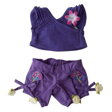 Purple Capri Set Outfit Clothing Fits Most 8