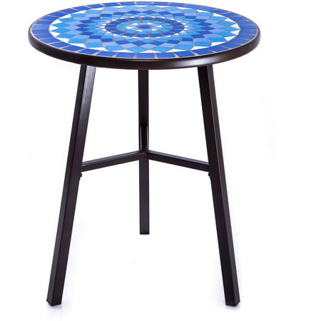 Nude Mosaic (Better Homes and Gardens Camrose Farmhouse Blue Mosaic Bistro Table )