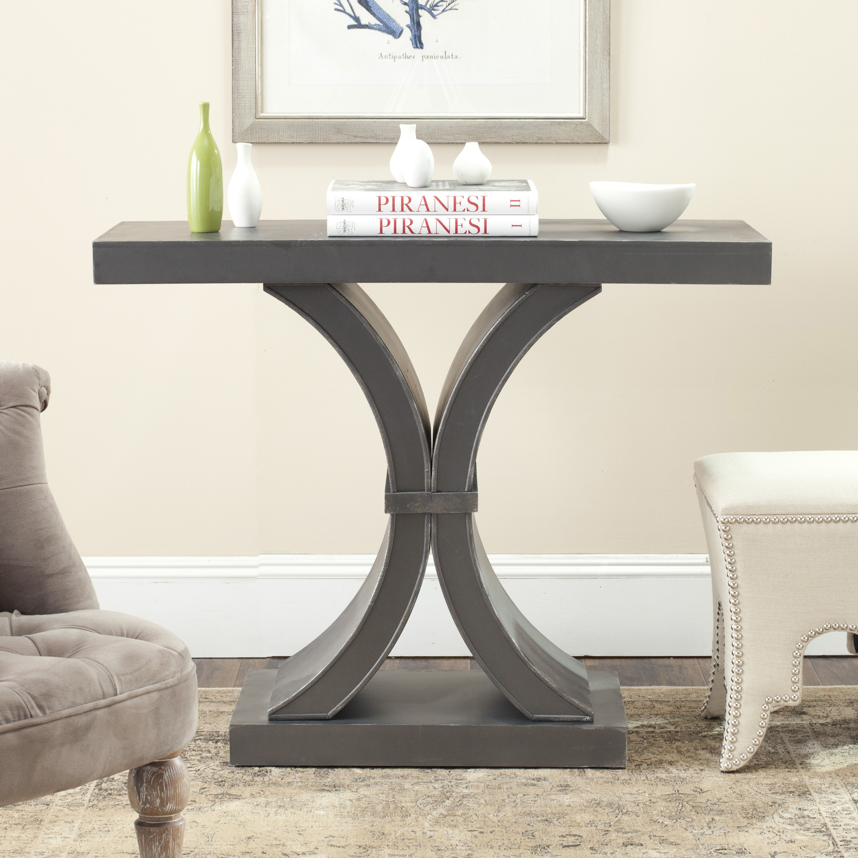 Safavieh Dryden Console, Distressed Black