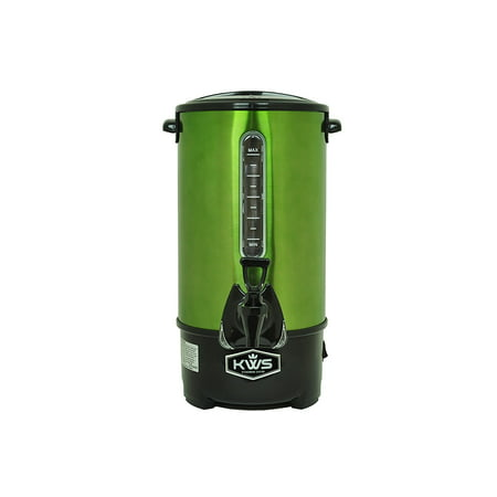 KWS WB-30 19.5L/ 83Cups Commercial Heat Insulated Water Boiler and Warmer Stainless Steel  (Green) (Water Boiler Commercial)