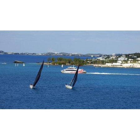 LAMINATED POSTER Travel Ocean Sailboat Racing Bermuda Cruising Poster Print 24 x (Best Cruising Sailboat For Single Hand)