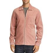 Mens Shirt Jacket Pink Large Corduroy Point Collar Full-Zip $138 L
