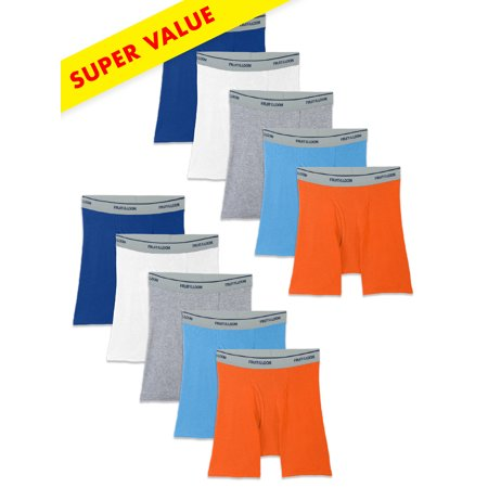 Assorted Boxer Briefs, Super Value 10 Pack (Little Boys & Big Boys)