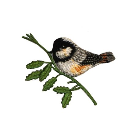 T Birds Patch Grease (ID 0551 Chickadee Bird Patch Small Swallow Perch Embroidered Iron On)