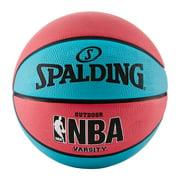 "Spalding NBA Varsity 29.5"" Basketball - Neon Blue/Salmon"