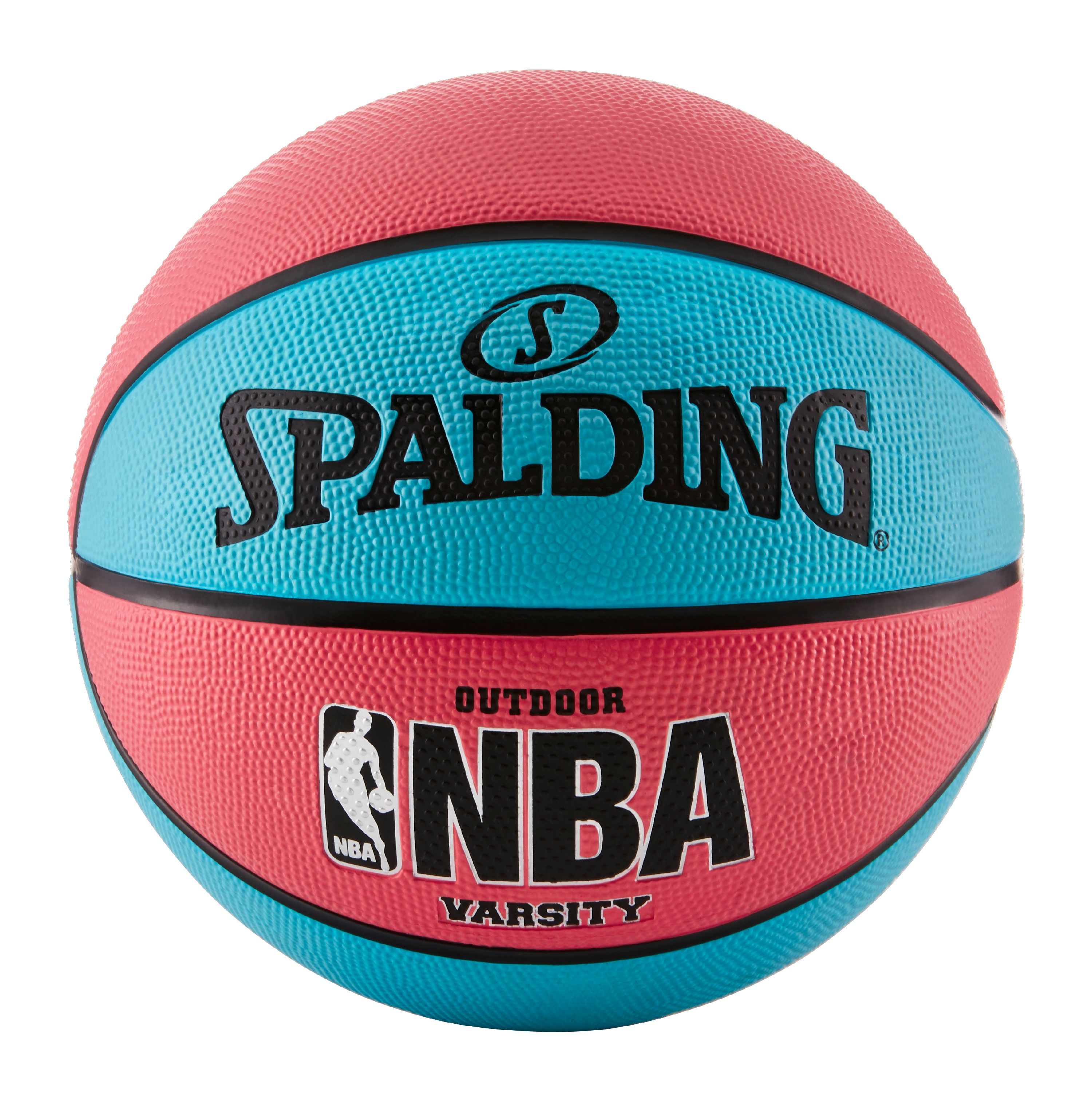 "Spalding NBA Varsity 29.5"" Basketball - Neon Blue/Salmon"