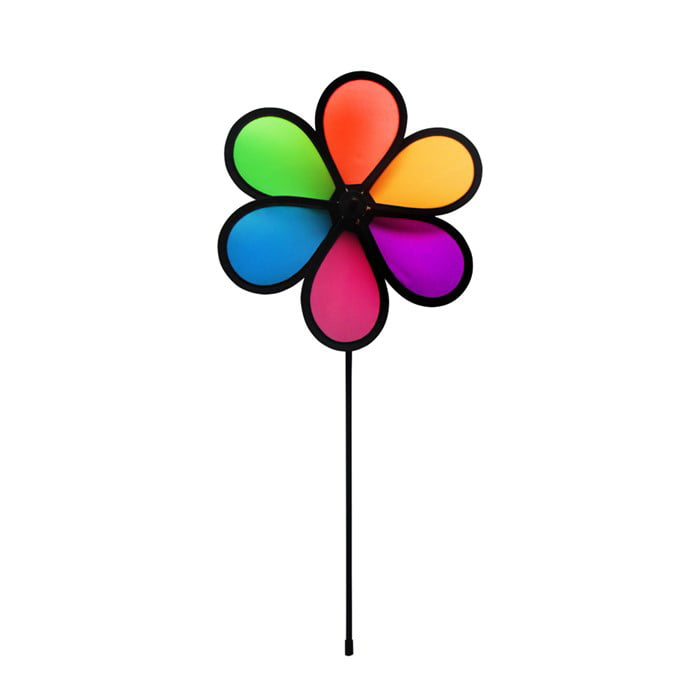 In the Breeze 10-Inch Neon Fusion Flower Spinner Colorful Wind Spinner for your Yard and... by In The Breeze