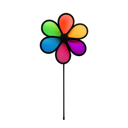 In the Breeze 10-Inch Neon Fusion Flower Spinner - Colorful Wind Spinner for your Yard and Garden