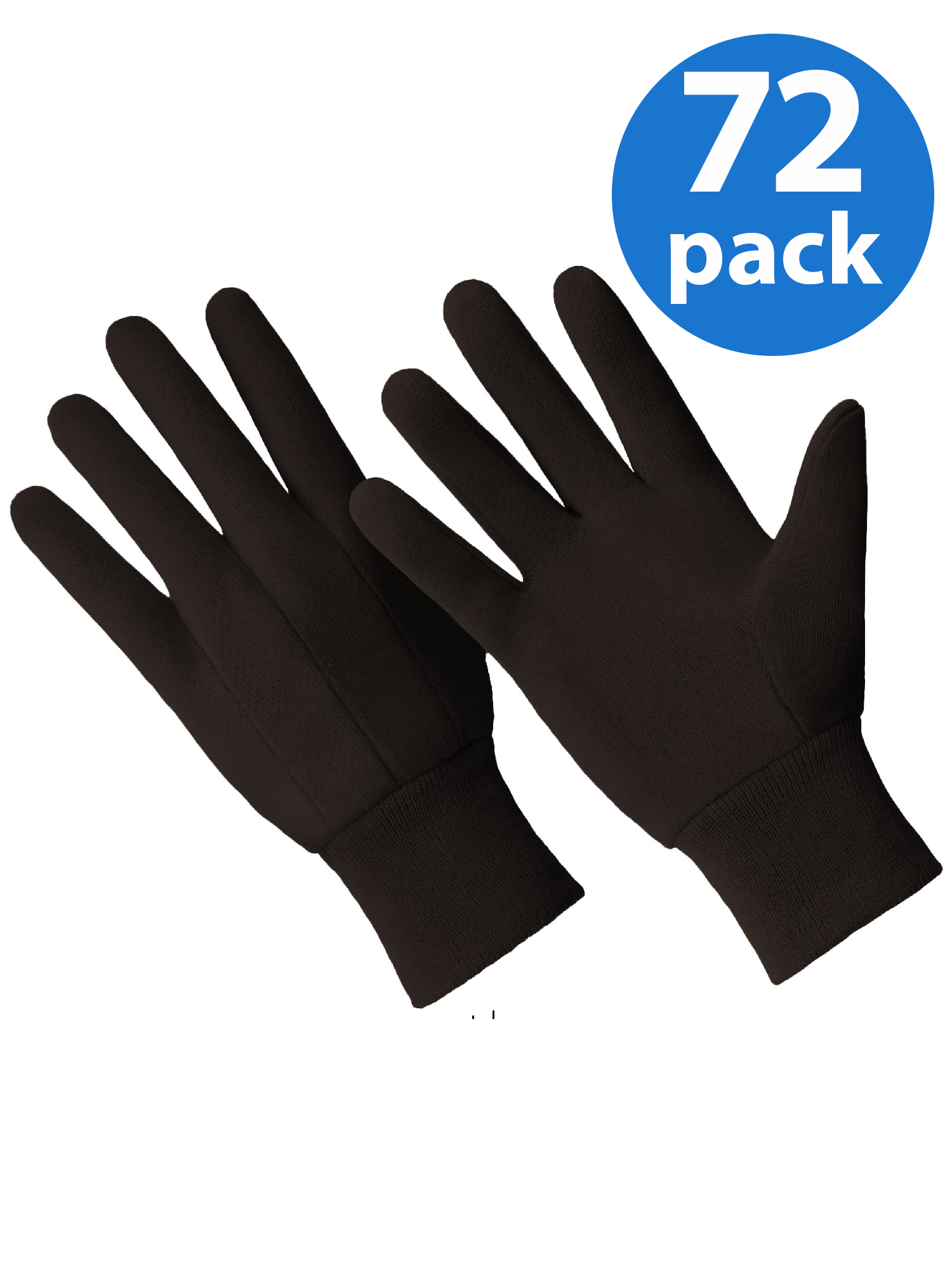 CT7000-L-72PK, 72 Pair Value Pack, Poly/Cotton Blend Brown Jersey Glove